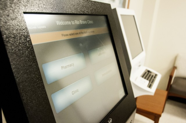 An automated kiosk provides easy patient check-ins at William Beaumont Army Medical Center's first community-based clinic, Rio Bravo Medical Home, which provides nearly 8,000 beneficiaries expeditious care at its location in El Paso's Eastside.