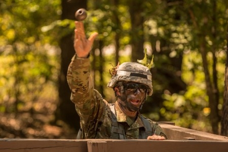 Competitors at the 2016 TRADOC Drill Sergeant and Advanced Individual Training Platoon Sergeant of the Year competition are graded on numerous warrior tasks, Sept. 7, at Fort Jackson, S.C. The competition runs, Sept 6-9.