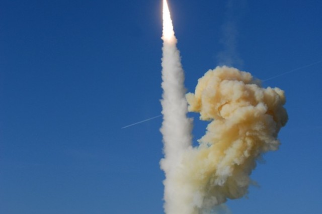 Groundbased Interceptor launch at Vandenberg AFB, Calif, January 2010. (Photo Courtesy Missile Defense Agency/Released).