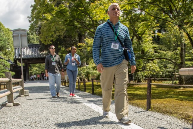 Soldiers with 2nd Battalion, 27th Infantry Regiment, 3rd Brigade Combat Team, 25th Infantry Division visit Kyoto, Japan to explore some of the historic towns and temples, Sept. 9, 2016.