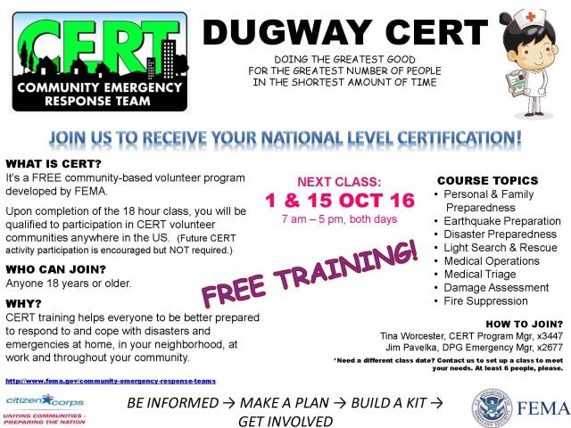 Dugway CERT Training