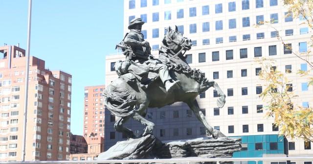 Horse Soldier statue