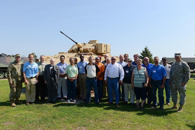 Harry Sieben, CASA for Minnesota, hosted clergy members and labor leaders from across the state at Camp Ripley in August 2016. The visit was an opportunity to talk with Soldiers, see what skills they are learning with the Minnesota National Guard and to get a small glimpse of what goes on at Camp Ripley.