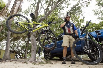 Paralyzed vet goes from wheelchair to mountain bike