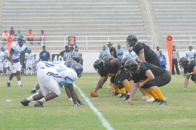 The Fort Benning Doughboys went head to head against the Point University Skyhawks at Doughboy Stadium Sept. 18.
