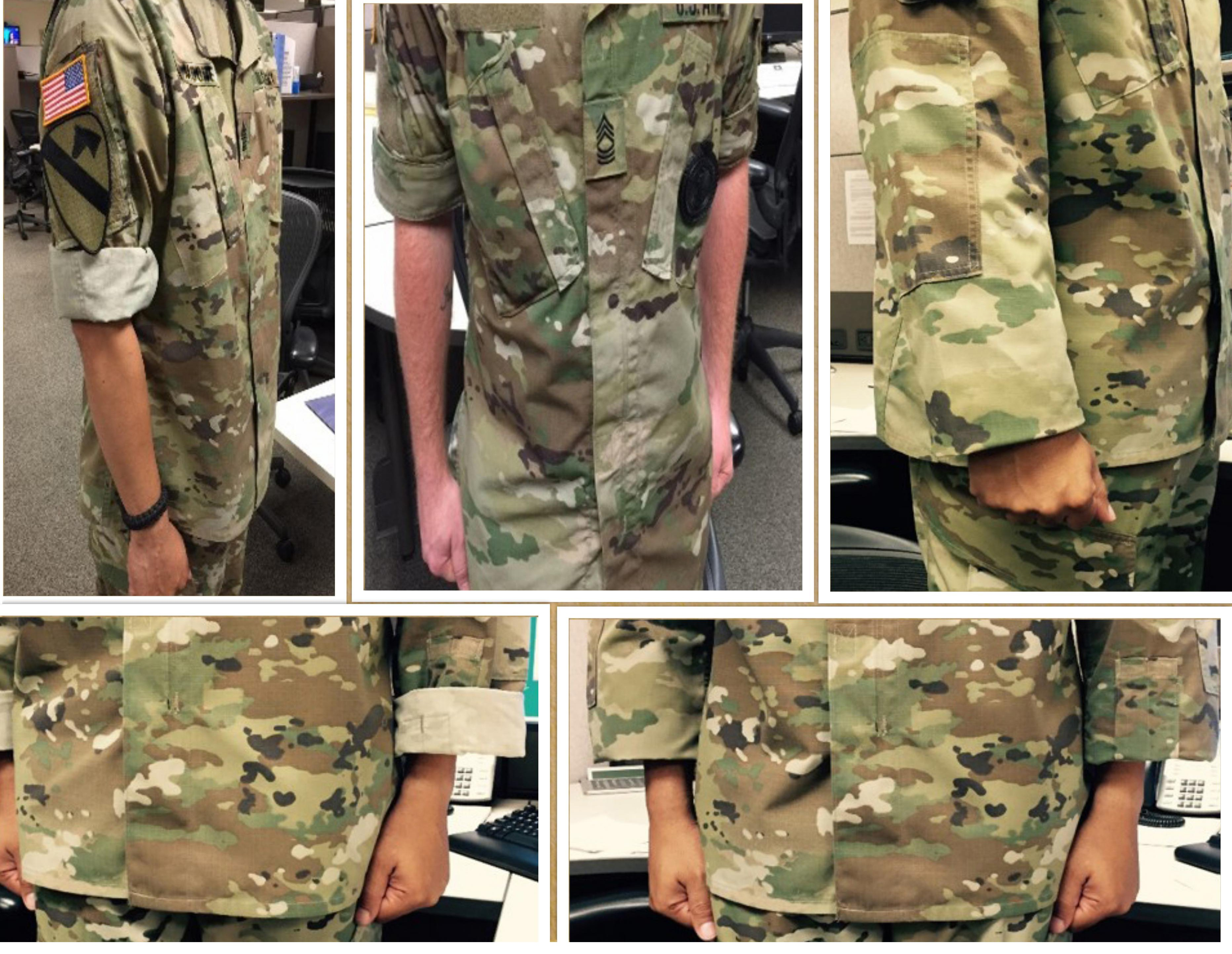Army issues new guidance on rolling, cuffing sleeves