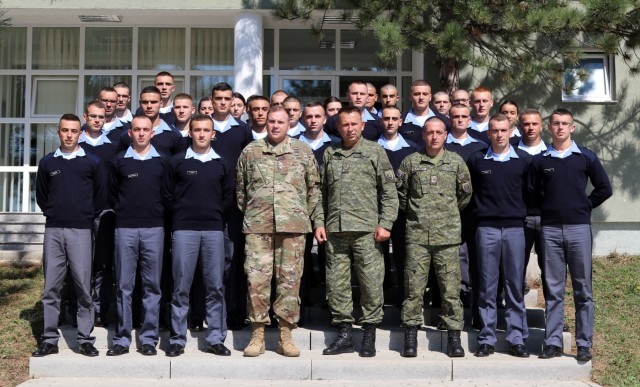 U.S. Army Europe Commander visits Kosovo Security Force, puts life in their hands