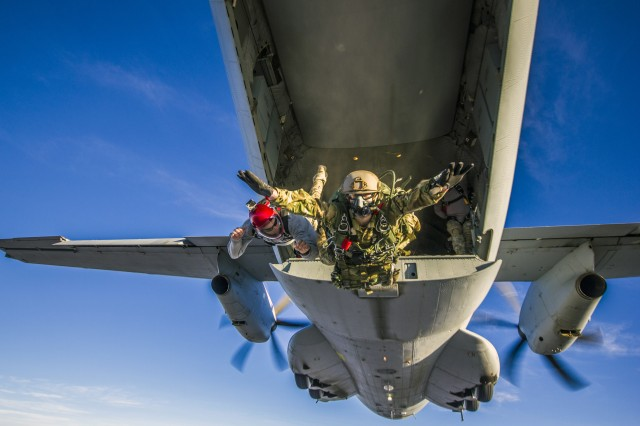 """For more than 20 years, the Army's Military Freefall School has utilized U.S. Army Yuma Proving Ground's vast ranges to train thousands of the military's most elite paratroopers. """"YPG essentially provides everything that we need in order to run our training courses here,"""" said Maj. Alan Enke, commander. """"Virtually everything but the administrative and logistical functions of the freefall school itself are provided by Yuma Proving Ground."""""""