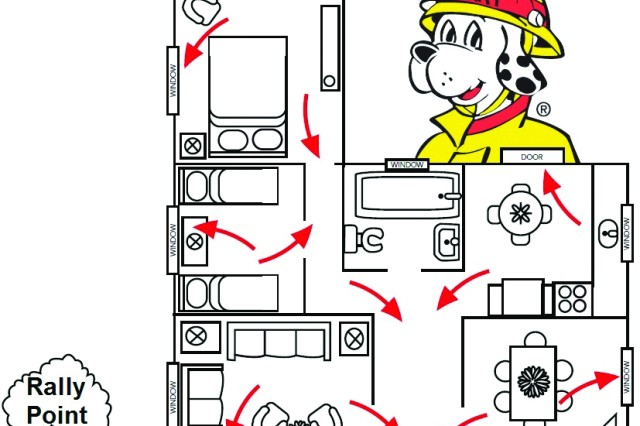 how to draw emergency exit plan