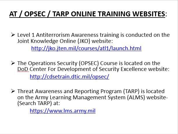 Us Army Training: Opsec Us Army Training