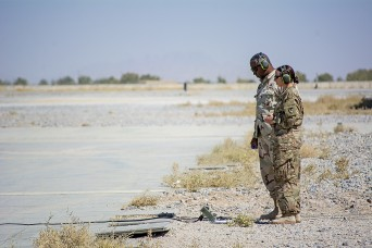 401st AFSBn-Afghanistan aviation logistician builds relationships on flight-line, launches UAS