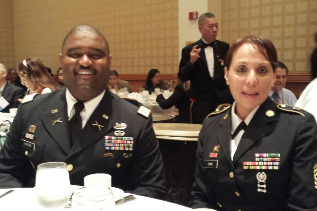 Master Sgt. Patricia Font at a military service luncheon where she received the 2014 National Latina Style Distinguished Service Award.