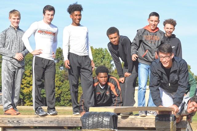 Waynesville High School football players put their team developmental skills to the test on Fort Leonard Wood Oct. 6.