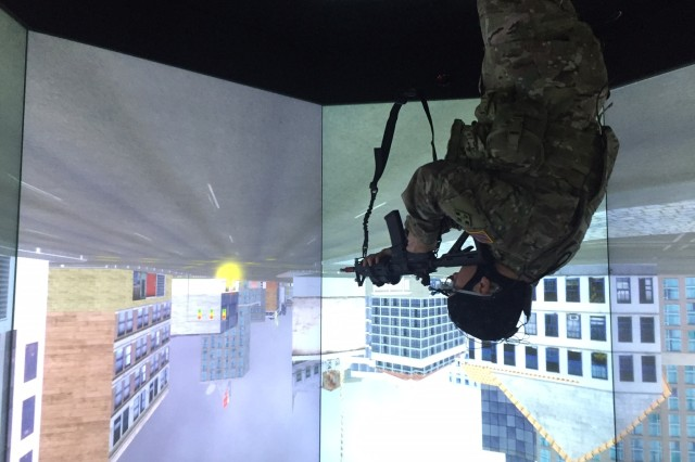 The Natick Soldier Research, Development and Engineering Center and Tufts University School of Engineering have jointly opened the Center for Applied Brain and Cognitive Sciences. The nation's warfighters, as well as first responders, will benefit from the partnership's multidisciplinary, cutting-edge research and facilities, including the virtual reality capabilities pictured here.