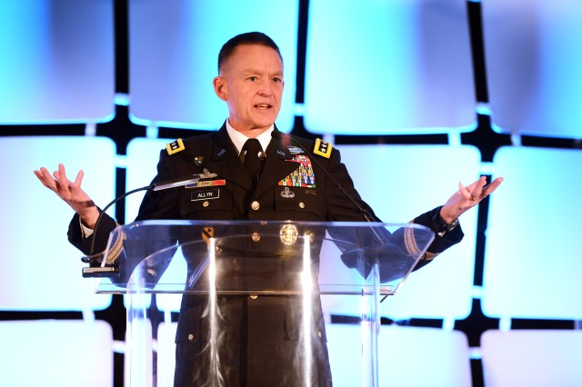 In the future, defense contractors who want to build unmanned systems for the Army must focus on increased situational awareness, lightening the load on Soldiers and force-protection capabilities, said Vice Chief of Staff of the Army Daniel Allyn, Oct. 26.