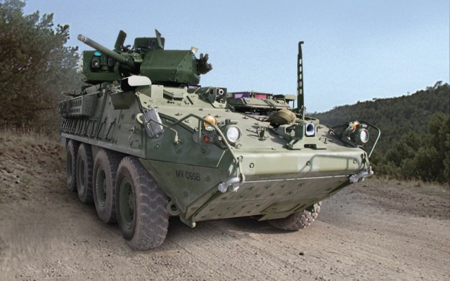 First Stryker prototype with 30mm cannon delivered to Army