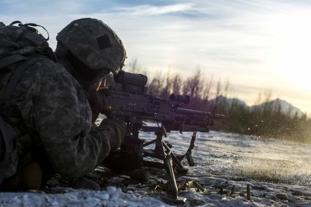 Machine gunning