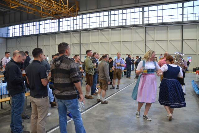 ILLESHEIM, Germany (Nov. 1, 2016) -- The 3rd Battalion (Assault Helicopter), 501st Aviation Regiment, Combat Aviation Brigade, 1st Armored Division, celebrated Oktoberfest Oct. 21 at a hangar here at Storck Barracks, where the battalion is rotationally stationed. (U.S. Army photo by Bryan Gatchell, USAG Ansbach Public Affairs)
