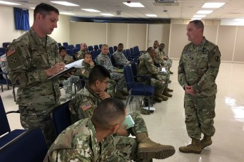 TRADOC CSM meets Operational Test Command NCOs for professional development