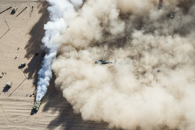 In austere environments with lots of sand and dust, Army aviators risk engine loss without a technology solution to protect their gas turbine engines. Army researchers are searching for a sandphobic coating.