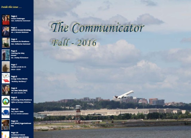The Communicator Fall Edition 2016 Cover