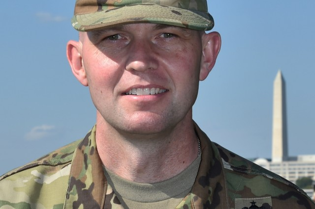 U.S. Army Maj. Brian Welch, a Eolia, Mo. native, joined the Joint Task Force - National Capital Region in support of the 58th Presidential Inauguration, which will take place Jan. 20, 2017. The task force is charged with coordinating all military ceremonial support for the inaugural period. As a joint service committee, it includes members from all branches of the armed forces of the United States, including Reserve and National Guard components. (U.S. Air Force photo by Senior Airman Dylan Nuckolls)