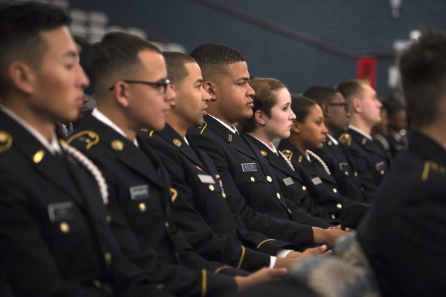 Secretary of the Army Eric Fanning spoke Nov. 1, 2016 to more than 300 Reserve Officer Training Corps cadets, representing more than a dozen colleges and universities, who attended an Army Senior Leader/ROTC Professional Mentor Forum at Howard University.