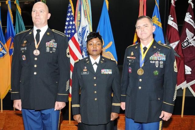 Sgt. 1st Class Michael Galbreath, Maj. JoAnn Ward and 1st Sgt. Robert Macko.