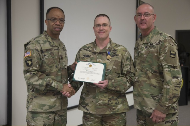 MAJ Nagel Receives AAM as Officer Instructor of the Year