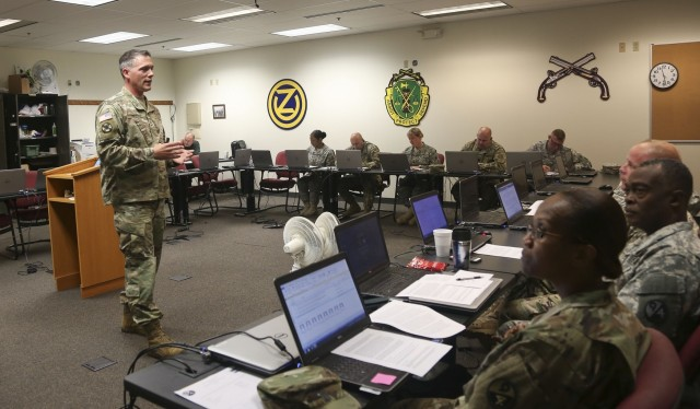 SFC Hiles Teaches at Instructor of the Year Competition