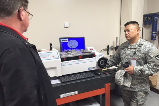 Corpus Christi Commander Col. Alan Lanceta visits the TMDE Support Center at his depot in Texas.