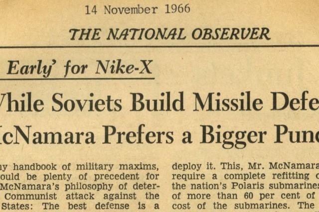 A Nike-X headline from Nov. 14, 1966