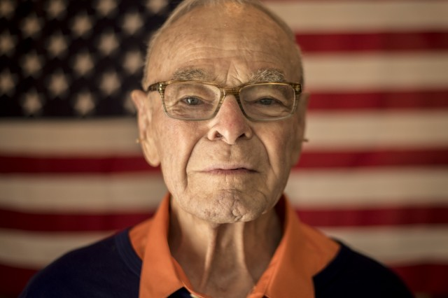 Former U.S. Army 1st Lt. William H. Funchess, 89, who endured 34 months as a prisoner of war during the Korean War, at his home in Clemson, S.C., Oct. 13, 2016. Funchess was held in the same prison compound and became very close to Father Emil J. Kapaun, an Army chaplain who received the Medal of Honor posthumously in 2013 for his acts of courage and compassion as a prisoner of war.  (U.S. Army photo by Staff Sgt. Ken Scar)