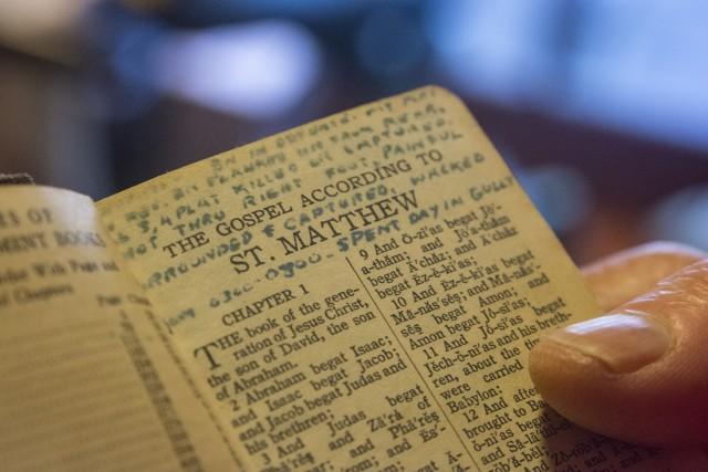 Words written in Funchess's Bible