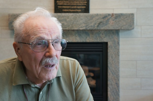Retired Chief Warrant Officer 2 William J. Opferman talks about his experiences during the Korean War at the Armed Forces Retirement Home in Washington, D.C.