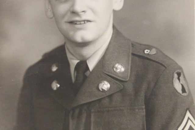 Retired Chief Warrant Officer 3 Charles Daniels as a young Army technician.