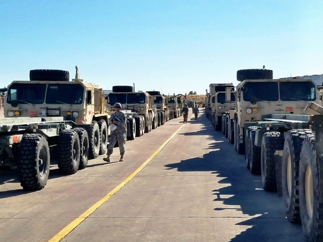 Fort Carson armored brigade begins movement of equipment to Europe