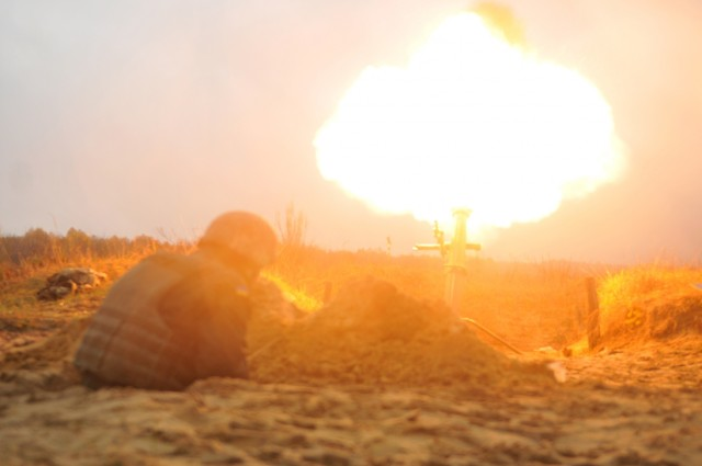Ukrainian Soldiers conduct mortar live-fire at IPSC