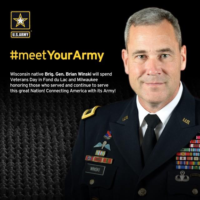 Brig. Gen. Brian Winski participates in Meet Your Army events in Wisconsin