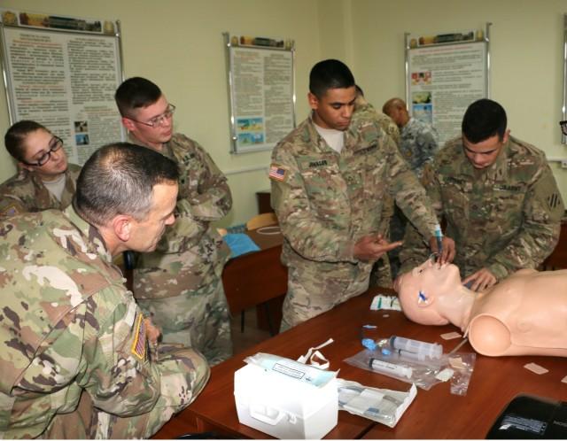 6-8 CAV medics brush up on EMT skills