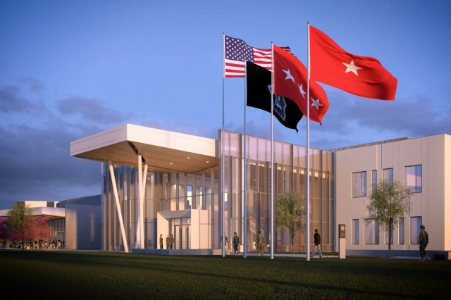 "U.S. Army Cyber Command and Second Army's new headquarters is depicted in this image from a ""fly-through"" video showing what the facility at Fort Gordon, Ga., is expected to look like when completed. A groundbreaking ceremony is scheduled for Nov. 29."