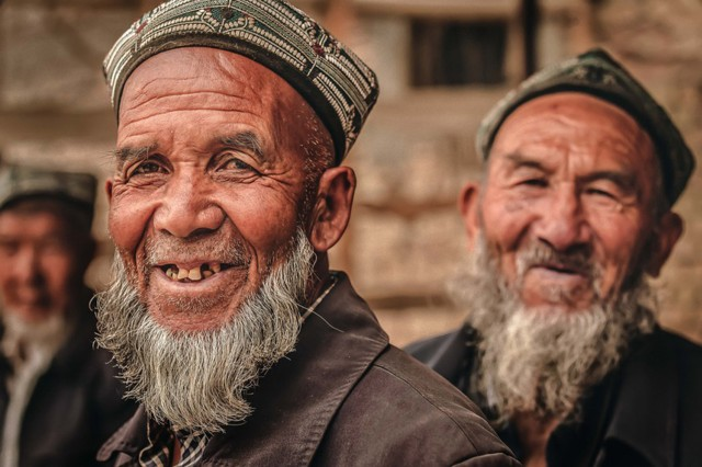 "Military family member Kimberly Kendall, representing U.S. Army Garrison Wiesbaden, Germany, wins first place in the people category, other eligible patrons division, of the 2015 Army Digital Photography Contest with ""Uyghur Shepherds."""