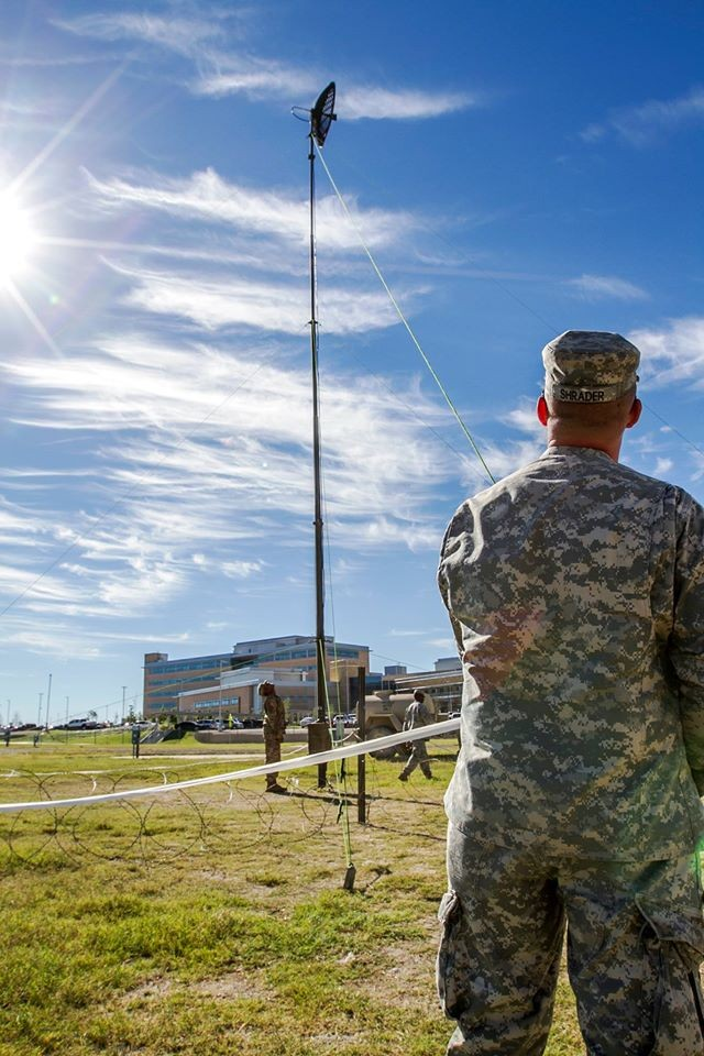 Constructing the communications antenna