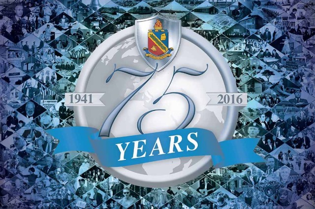 The official 75th anniversary logo. (Graphic design by Gary Harrington and Amber K. Whittington/Released)
