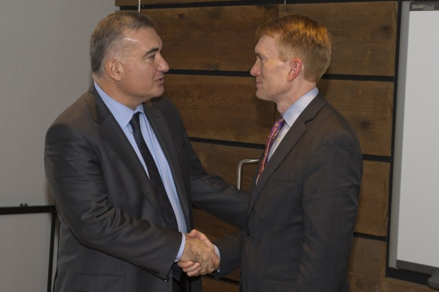 The Azerbaijani Ambassador to the United States, Elin Suleymanov, meets with U.S. Senator James Lankford, who represents the State of Oklahoma.