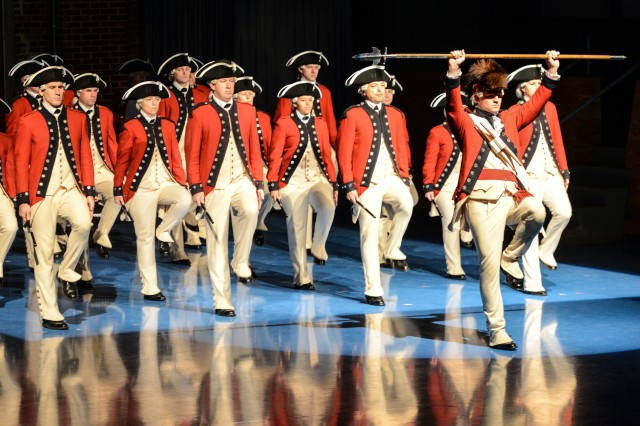 The Old Guard Fife and Drum Corps, which will be in the 58th Presidential Inauguration, Jan. 20, participates in a retirement ceremony Nov. 17, 2016, at Joint Base Myer-Henderson Hall, Va.