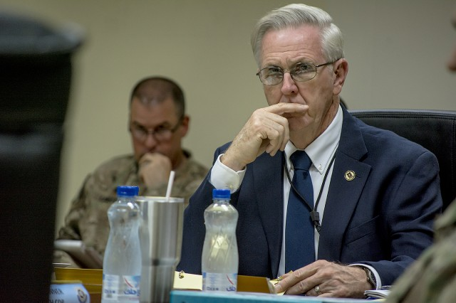 Daly makes first trip to CENTCOM as Commanding General of Army Sustainment Command