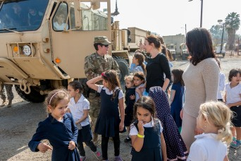 California Guard MPs entertain and inform young visitors