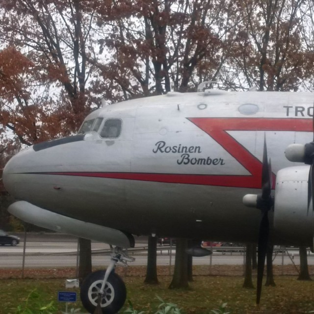 Original Aircraft that flew the Berlin Airlifts on display at Frankfort International