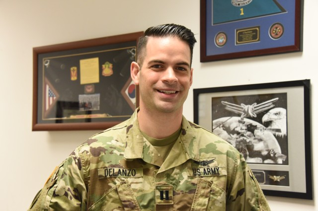 Capt. Boyd T. DeLanzo, commander, Alpha Detachment, 1st Space Company (JTAGS) based in Stuttgart, Germany, joined the Army in 2009.